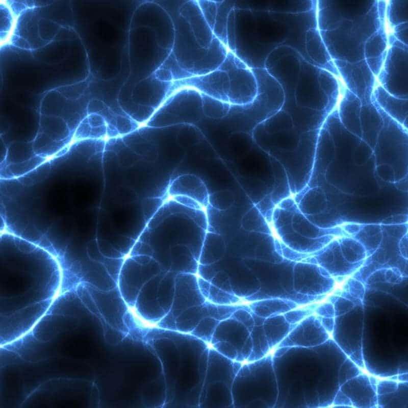 Swirls of blue electricity.