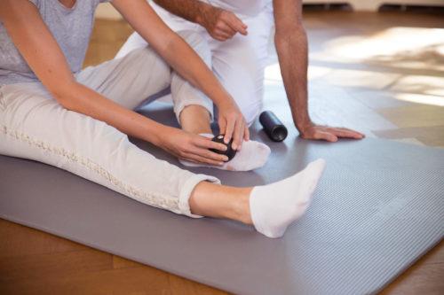 Übung gegen schmerzende Füße