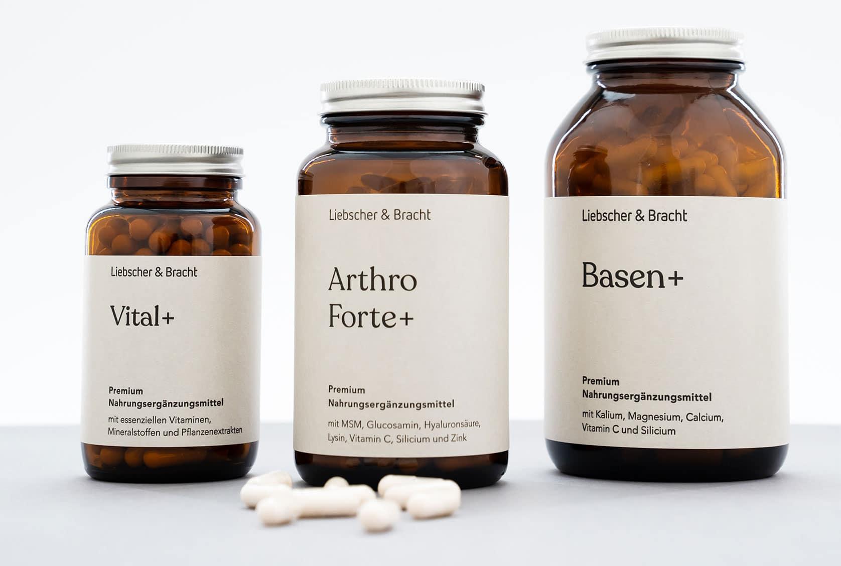 Drei Dosen Premium Nahrungsergänzungsmittel (Vitalstoffe) von Liebscher & Bracht