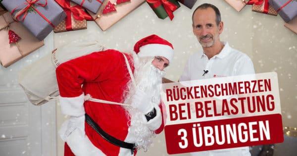 Schmerzspezialist Roland Liebscher-Bracht zeigt dem Nikolaus drei effektive Übungen gegen seine Rückenschmerzen
