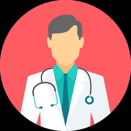Icon mit einem Arzt