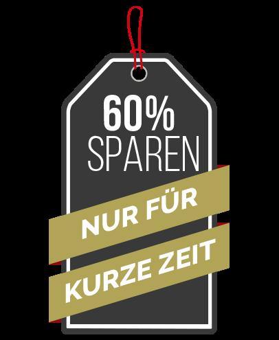 60 Prozent Sparen für kurze Zeit