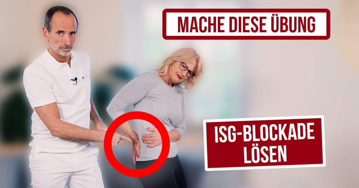 Roland Liebscher-Bracht zeigt einer Patientin Übungen gegen ISG-Blockade