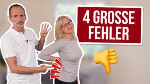 Vermeide diese 4 Fehler, damit du keine Rückenschmerzen bekommst
