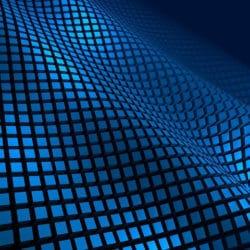Ein blau-schwarzes Muster, das Stoßwellen zur Behandlung bei Schulterschmerzen darstellen soll