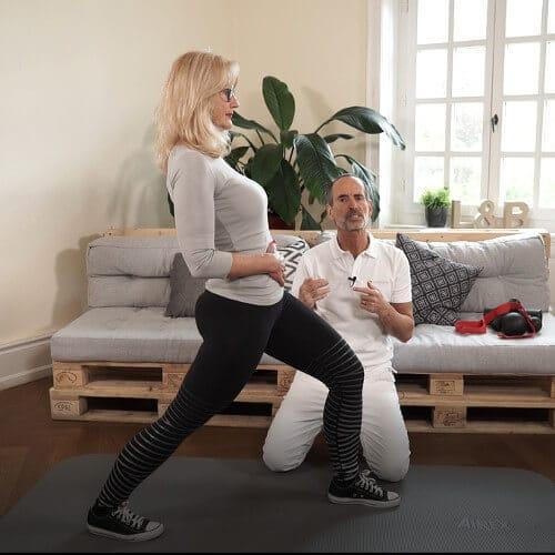 Verkürzungen durch langes Sitzen mit einer Übung bekämpfen