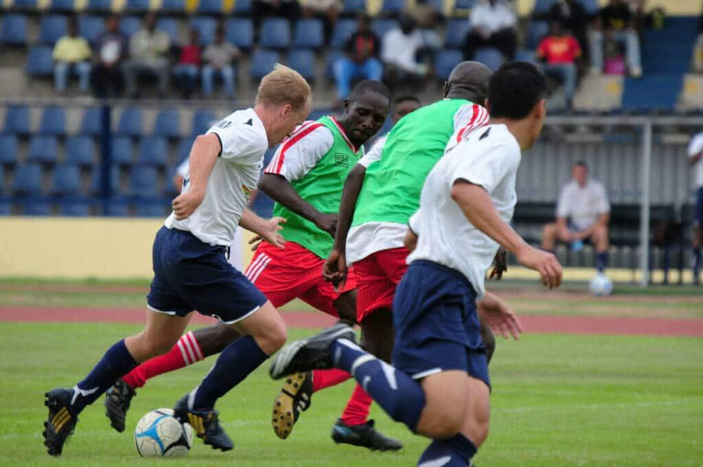 Fußballer auf dem Feld