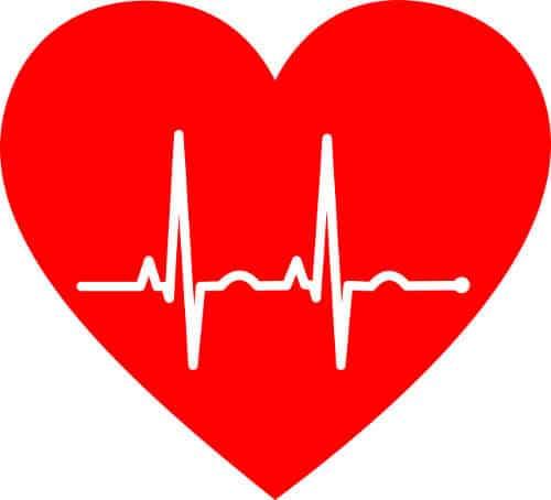 Herz mit Pulskurve