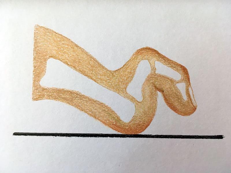 Grafische Darstellung einer Krallenzehe