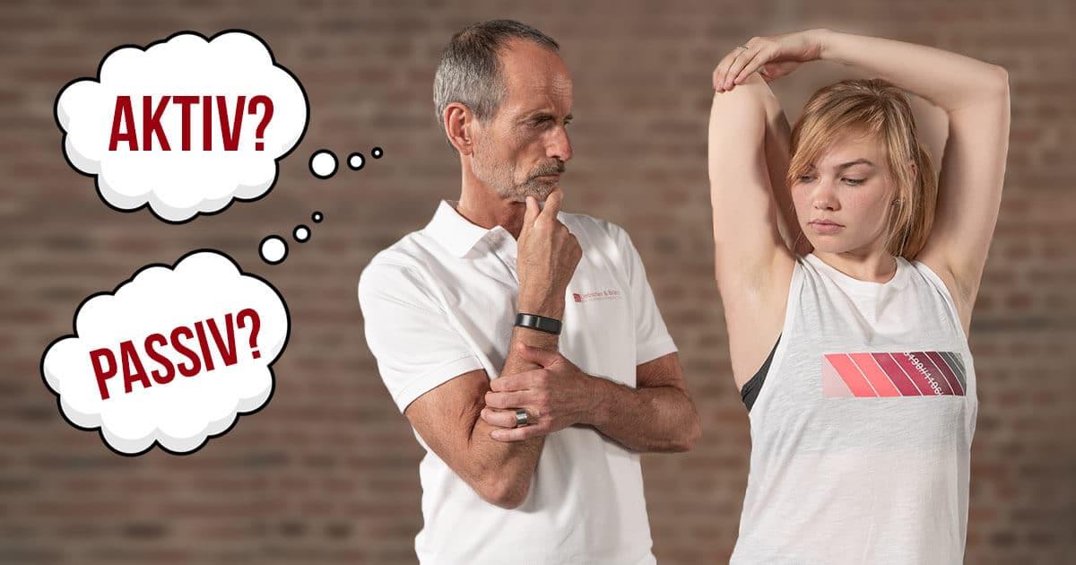 Roland Liebscher-Bracht erklärt, was Was der Unterschied zwischen aktivem und passivem Dehnen ist