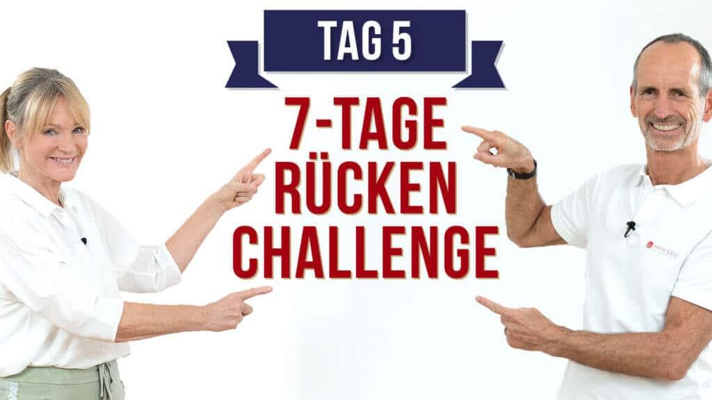 Roland und Petra weisen auf die Rücken-Challenge von Liebscher & Bracht hin