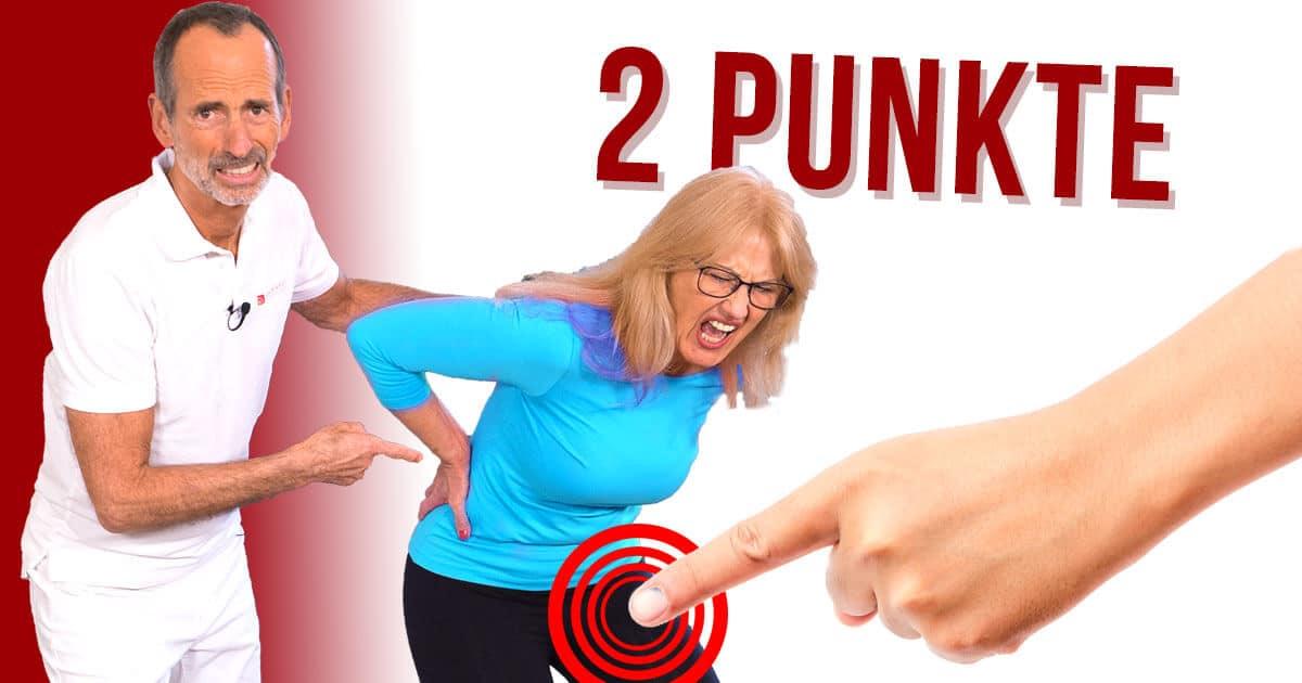Drücke diese 2 Punkte und deine Rückenschmerzen verbessern sich