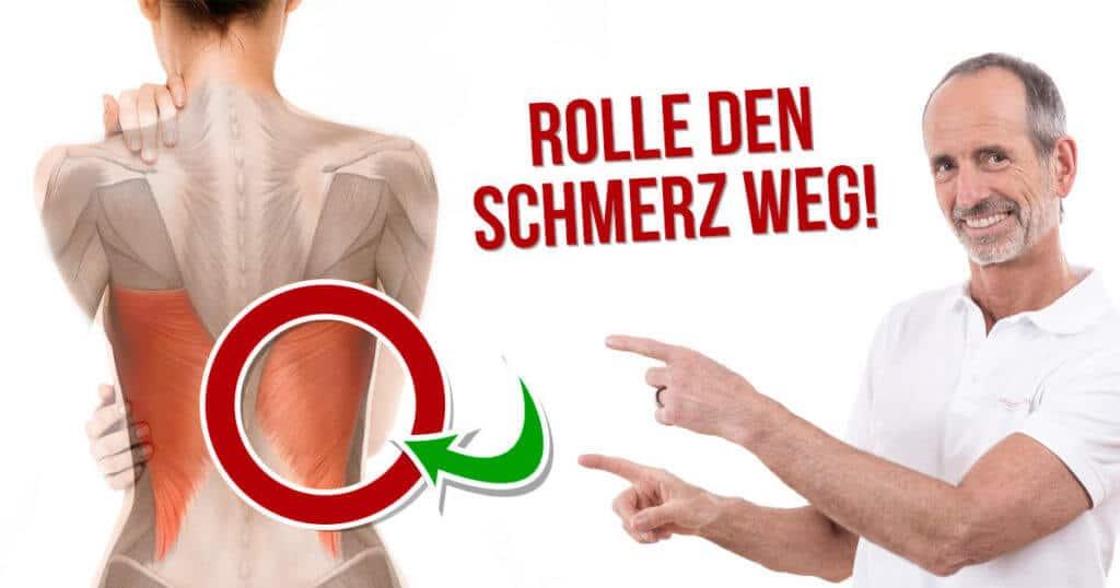 Roland zeigt, welche Faszien du bei Rückenschmerzen unbedingt rollen solltest