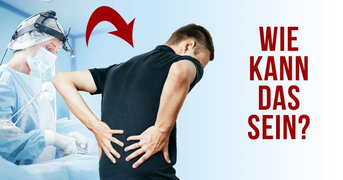 Ein Patient hat Rückenschmerzen trotz Operation