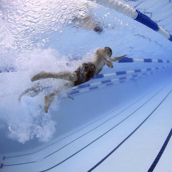 Schwimmer beim Training