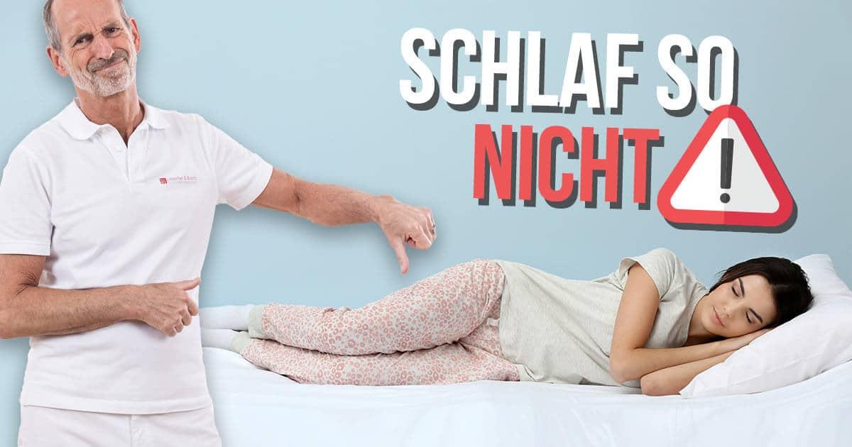 Rückenschmerzen im Schlaf abtrainieren