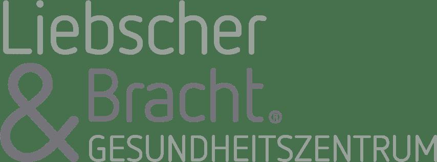 """Logo von """"Liebscher & Bracht - Gesundheitszentrum"""" in Grau und blassem dunkelgrün"""