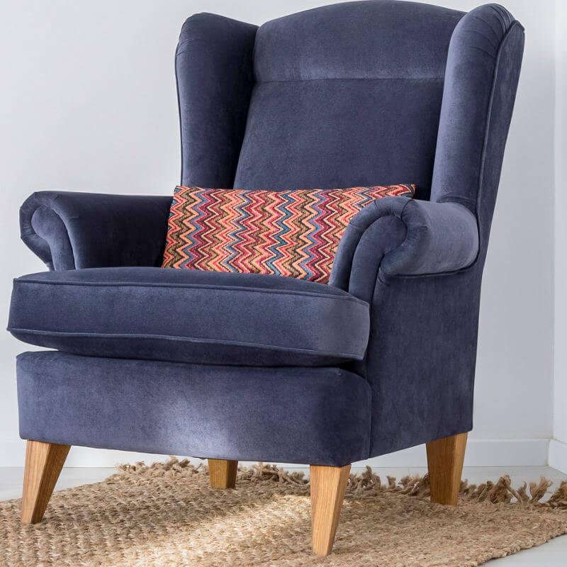 Bequemer blauer Couchsessel