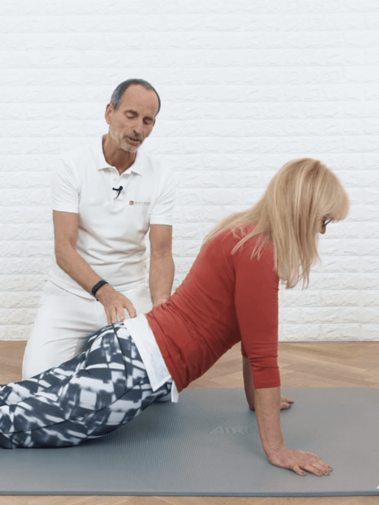 Schambeinentzündung+Dehnübungen