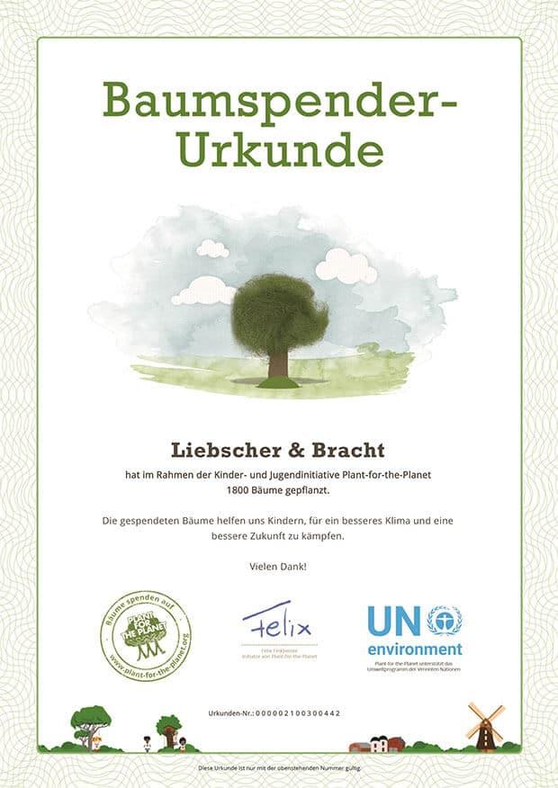 baumurkunde 1800 liebscher bracht - Pflanzt Bäume